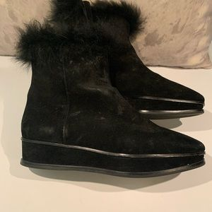 TORY BURCH FAUX FUR / SUEDE BOOTS SIZE 10